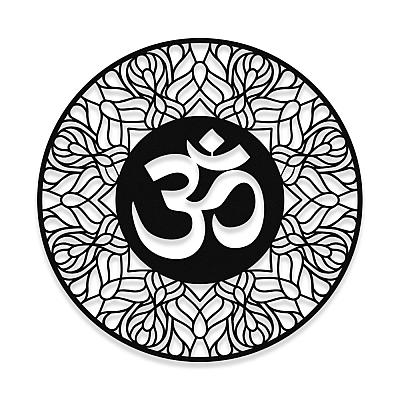 NEW JARGON Aum Yoga Zen Meditasyon Yapan Kadın Üçlü Metal Set Dekoratif İç Mekan İçin Metal Tablo 50x50 cm