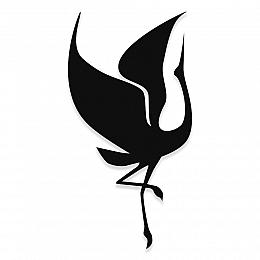 NEW JARGON Ayakları Havada Dans Eden Leylek Metal Dekoratif İç Mekan İçin Metal Tablo 50x25 cm