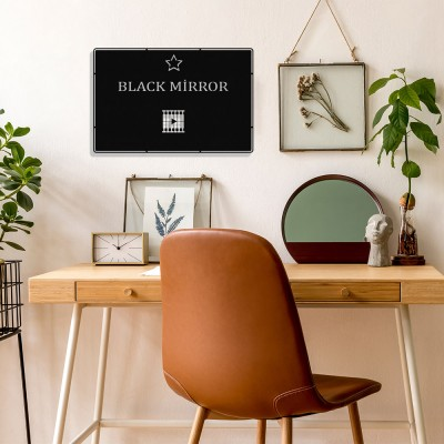 Benim Favori Dizim Black Mirror Tasarım Metal Tablosu 50x32cm
