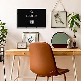 Benim Favori Dizim Lucifer Tasarım Metal Tablosu 50x32cm