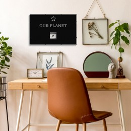 Benim Favori Dizim Our Planet Tasarım Metal Tablosu 50x32cm