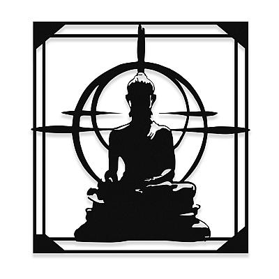 NEW JARGON Buda Heykeli Zen Sanatı Metal Dekoratif Mekan İçin Metal Tablo 50x45 cm