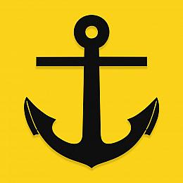 NEW JARGON Deniz Çapası Denizci Simgesi Metal Dekoratif İç Mekan İçin Metal Tablo 50x44 cm