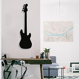 Jazz Music Elektronik Gitar Tasarım Metal Tablosu 65x18cm