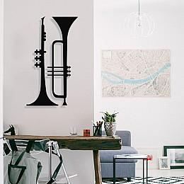 Jazz Music İki Çift Saksafon Tasarım Metal Tablosu 65x37cm