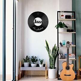 Jazz Müziğin Kıralı Louis Armstrong Tasarım Metal Tablosu 50x50cm