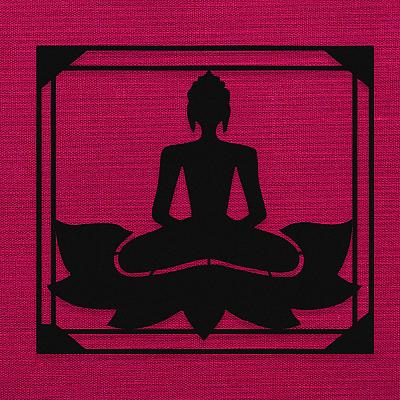 NEW JARGON Lotus Çiçeği Üzerinde Buda Zen Yoga Yapan Kadın Metal Dekoratif İç Mekan İçin Metal Tablo 50x40 cm