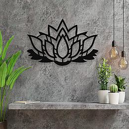 NEW JARGON Lotus Çiçeği Yoga Çiçeği Duvar Oda Aksesuarı Metal Dekoratif İç Mekan İçin Metal Tablo 50x50 cm