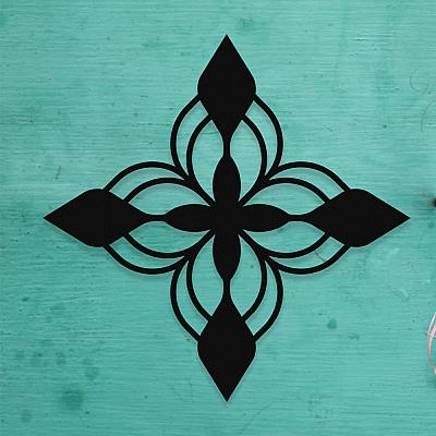 NEW JARGON Mandala Motifi Tasarımı Metal Set Dekoratif İç Mekan İçin Metal Tablo 50x50 cm