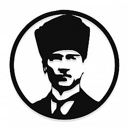 NEW JARGON Mustafa Kemal Atatürk Potresi Metal Dekoratif İç Mekan İçin Metal Tablo 50x50 cm