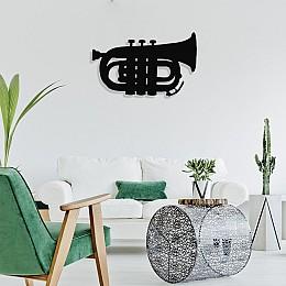 Müzik ve Kontürbass Tasarım Metal Tablosu 65x40cm