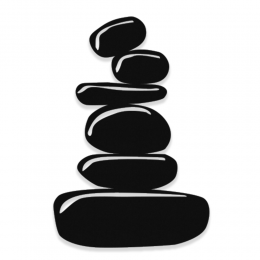 NEW JARGON Yoga Zen Denge Taşları Metal Dekoratif İç Mekan İçin Metal Tablo 50x33 cm